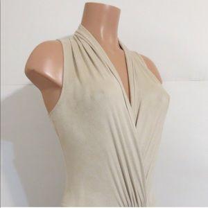 Bebe faux suede open front bodysuit